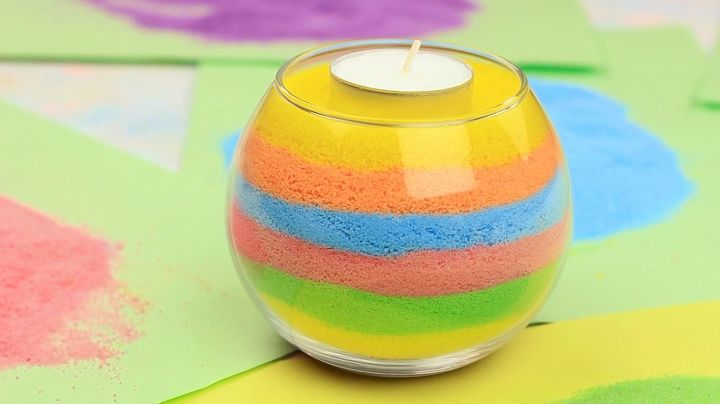 s 15 easy colorful projects, Bathroom Candle Holder