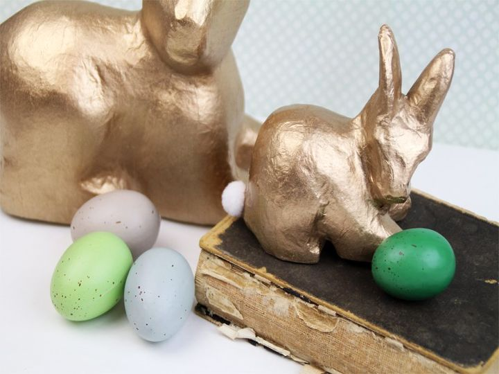 s 15 simple projects to get you ready for the spring season, Simple Gold Bunny