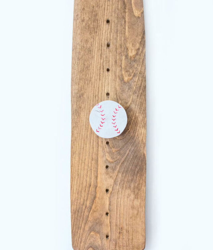 s get ready for the baseball season with these great projects, Baseball Bat Growth Chart for Nursery