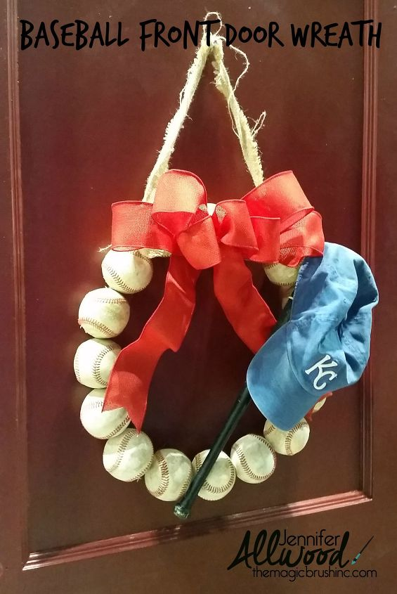 s get ready for the baseball season with these great projects, Make A Wreath for Your Front