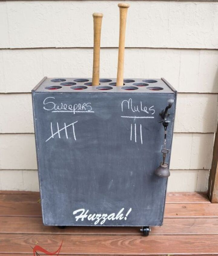 s get ready for the baseball season with these great projects, Dresser Turned Baseball Bat Holder