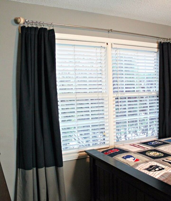 s get ready for the baseball season with these great projects, Finial Curtains