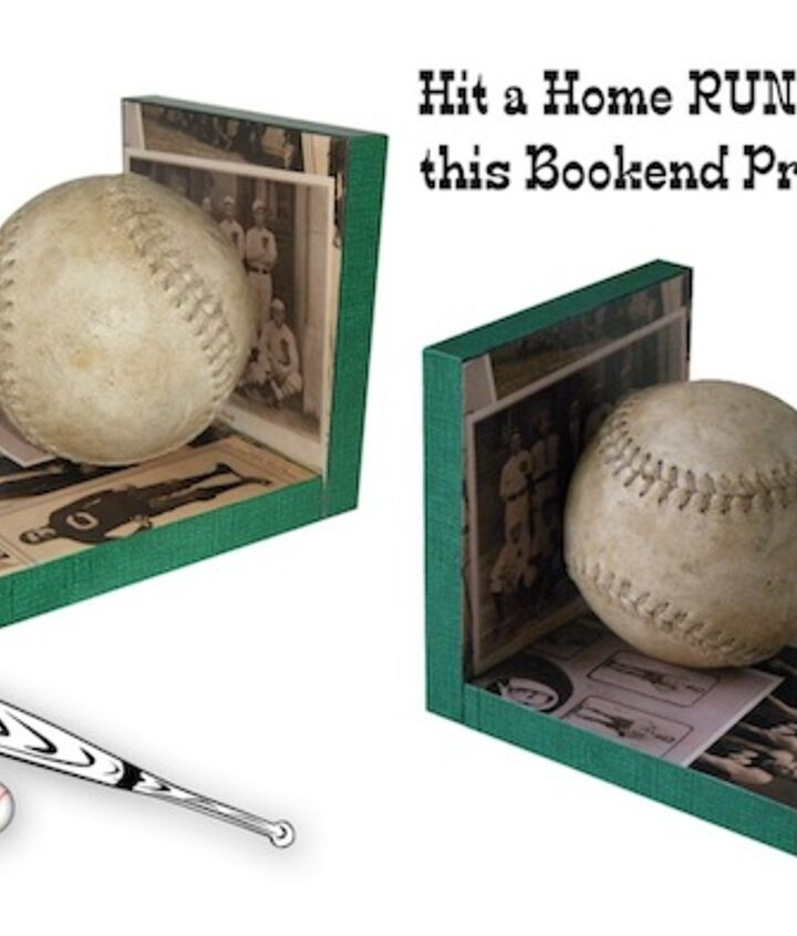 s get ready for the baseball season with these great projects, Make Bookends From Scratch