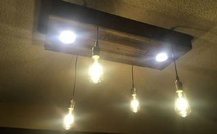 can lights in a home built rustic light fixture