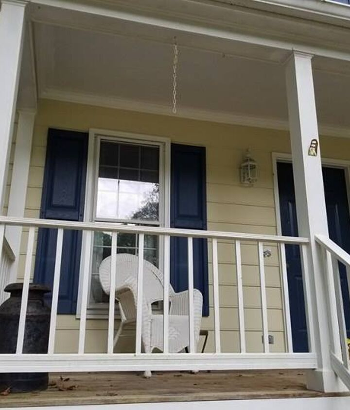 Porch railing replacement - before