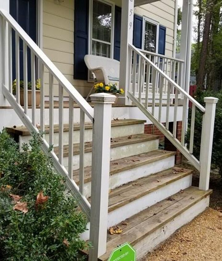 porch rail replacement - before