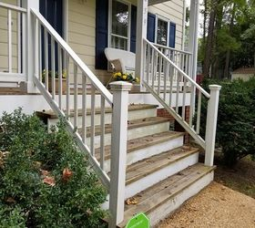 Diy Front Porch Railing Replacement Project, Porch Rail Replacement Before