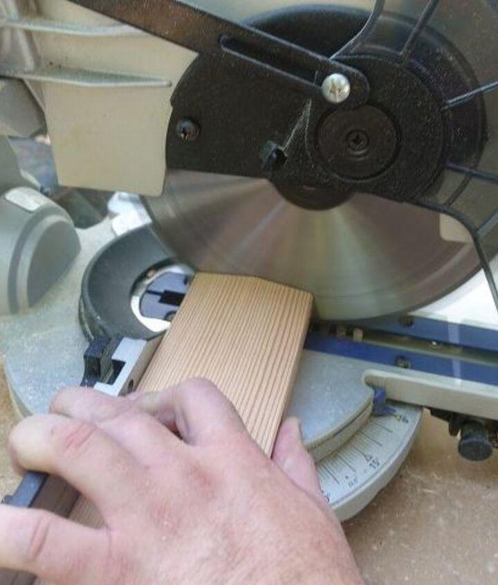 Cutting the rails using a miter saw