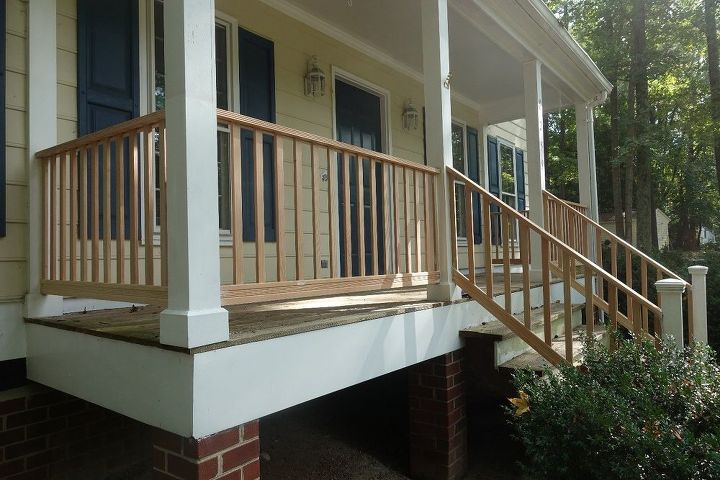 DIY Front Porch Railing Replacement Project | Hometalk