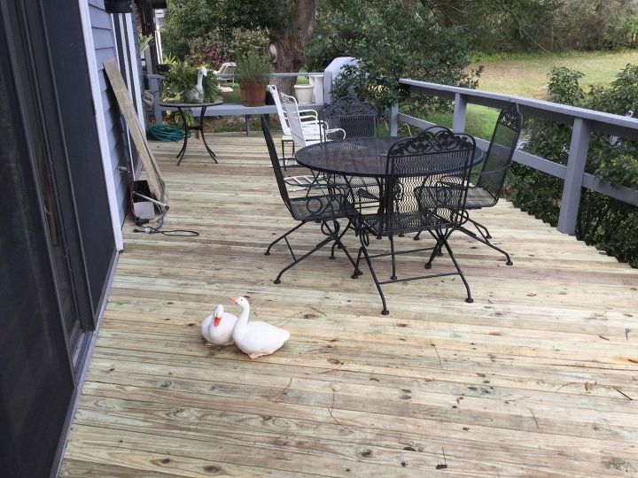 q how long should we wait before applying waterseal to new deck
