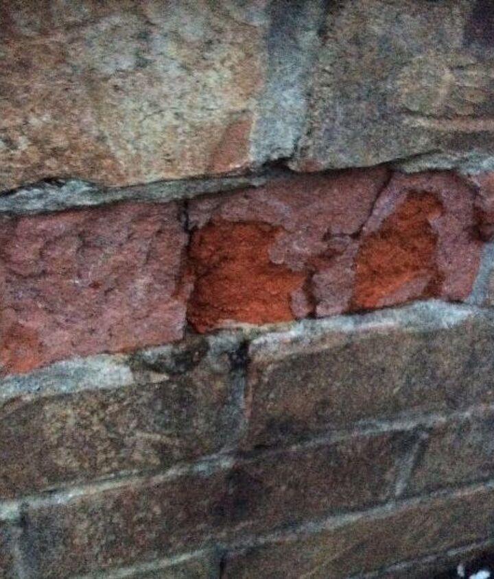 q how should one repair freeze damaged brick