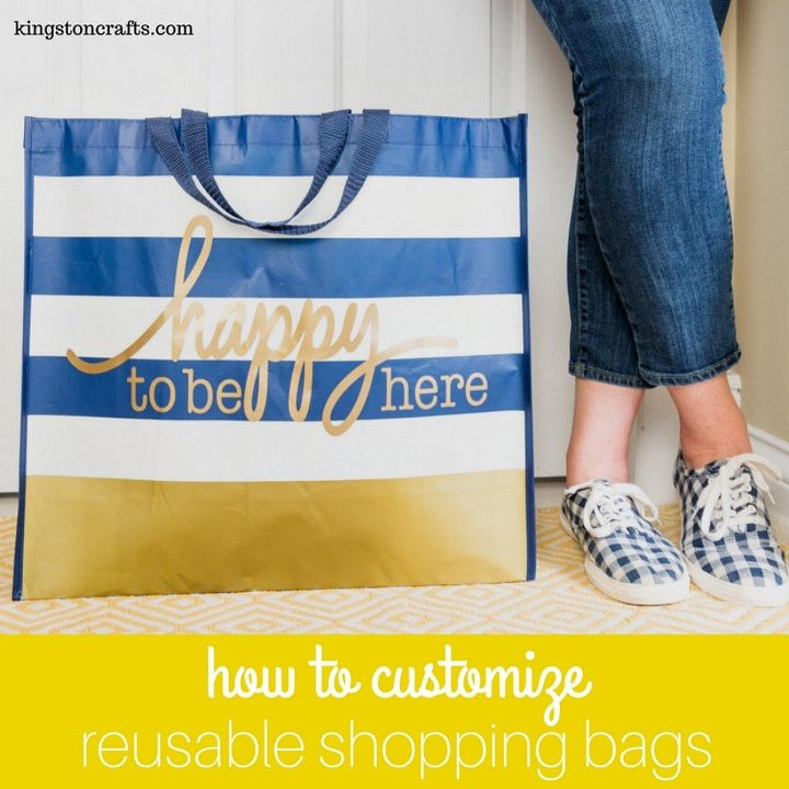 how to customize reusable shopping bags