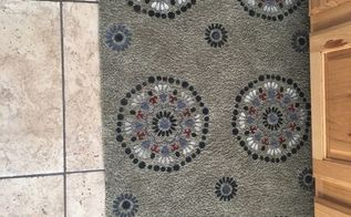 easy rug painting gives it a new look, Finished the design