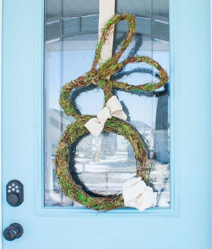 s the cutest ways to decorate your front porch for easter, The Perfect Bunny Wreath