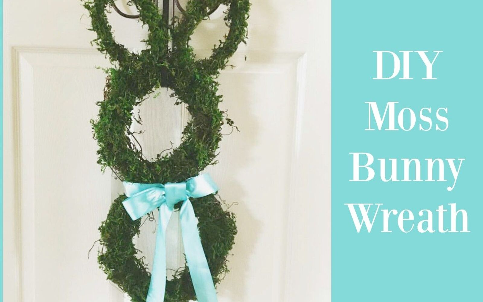 s the cutest ways to decorate your front porch for easter, Moss Bunny Wreath