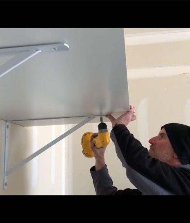 building a large heavy duty garage shelf