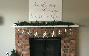 fireplace makeover in 3 hours under 30