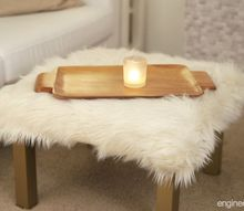 diy furry ottoman ikea hack with lack table for a small living room