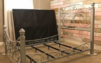 painted iron bed