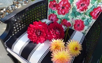 breakfast with peonies revamping velvet cane chairs by chalk paint