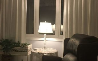 q livingroom window covering ideas