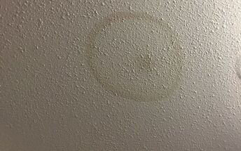 q we have an old water stain on our ceiling how do i cover it