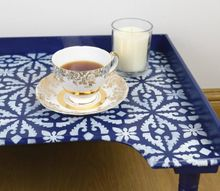 revive an old piece of furniture using a stencil