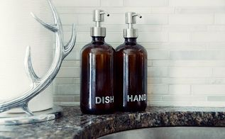 simple diy labeled soap dispensers