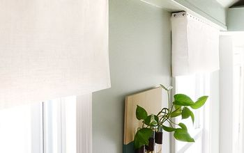 Easy DIY No-Sew Fabric Window Valance