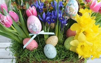 Create a Blooming Basket for Spring or Easter!