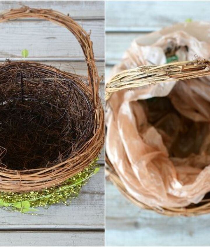 create a basket for spring or easter
