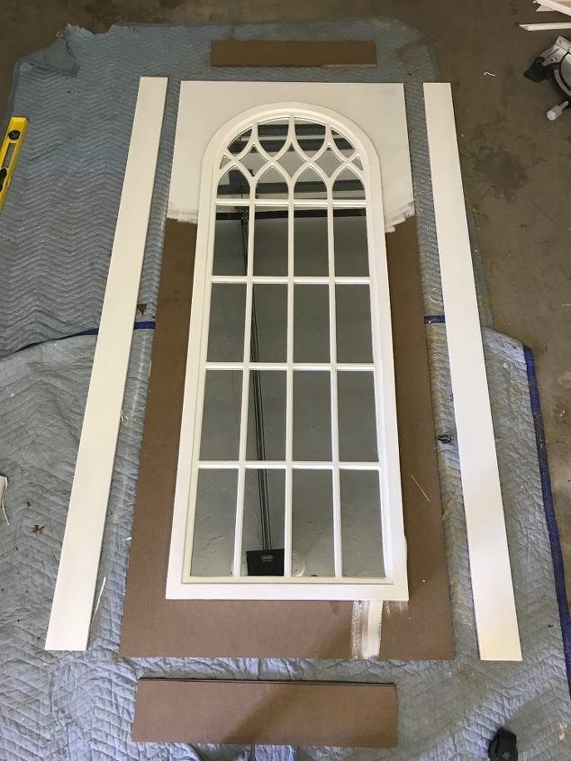 Cathedral Mirror Barn Door Joanna Gaines Inspired Hometalk