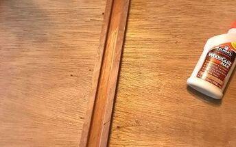 q repairing loose under drawer slider in an old dresser