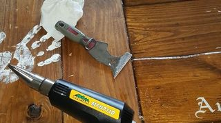 How do I remove a failed Epoxy pour from a table top? | Hometalk