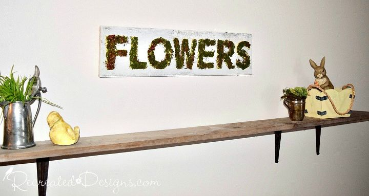 s check out these 15 beautiful flower ideas for spring, Easy To Make Mossy Sign