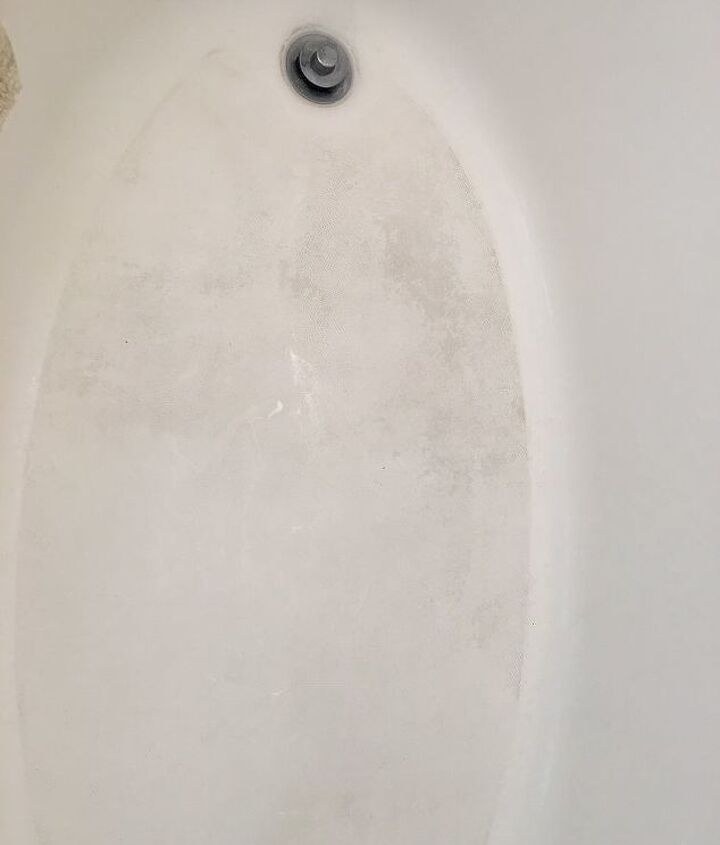 q how can i bring the bottom of my bathtub back to not having the dark s