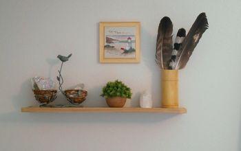 DIY Floating Cedar Shelf For Bedroom