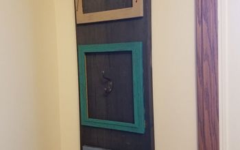 wall coat rack from dumpster wood