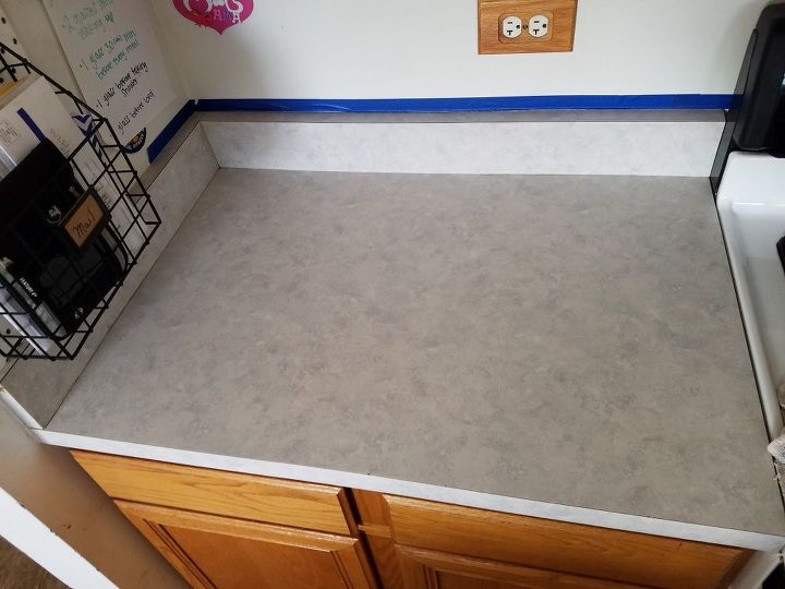 kitchen counter makeover, Before