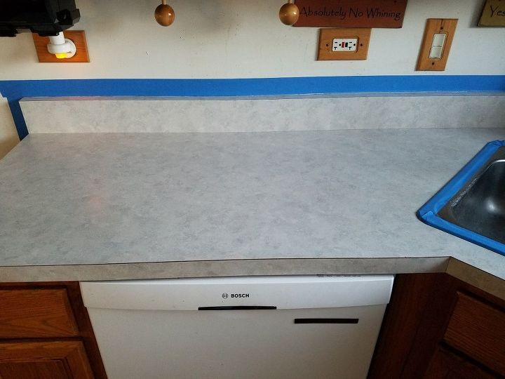 kitchen counter makeover