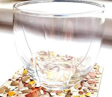 cracked eggshells craft idea a mosaic coaster