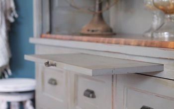 cabinet transformation using chalk paint