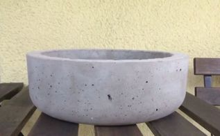 super easy concrete bowl diy, Final