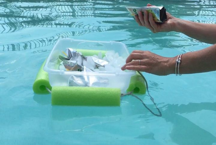 s 10 creative ways to transform pool noodles into something new, Cut Noodles For A Floating Cooler