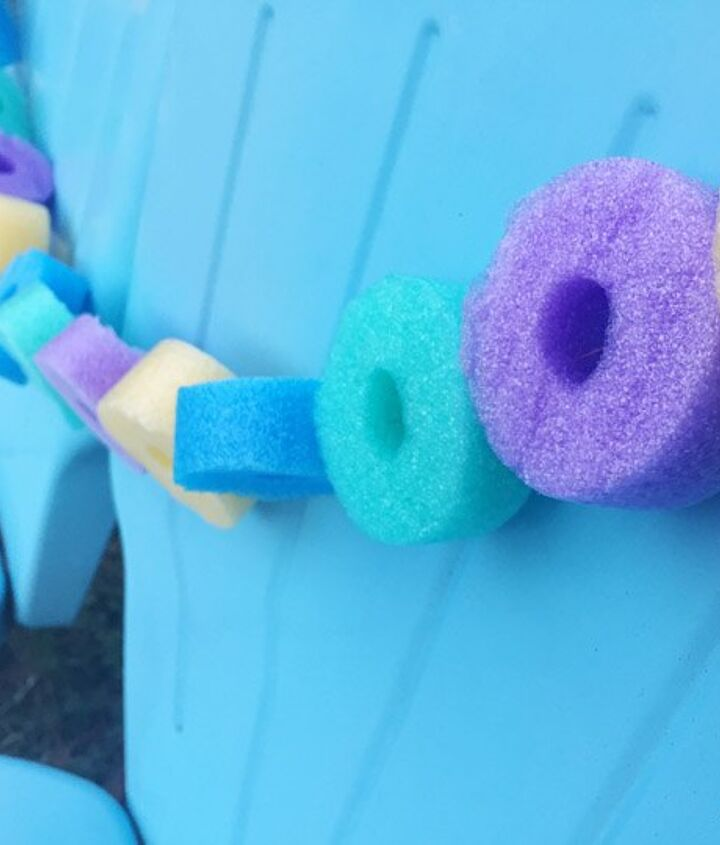 s 10 creative ways to transform pool noodles into something new, Hang Them As An Outdoor Garland