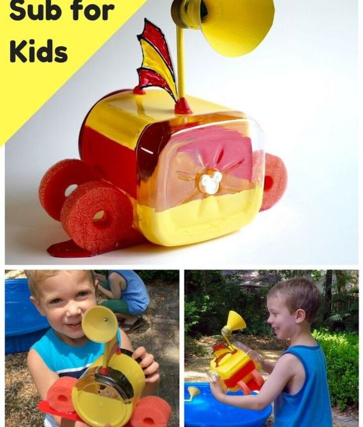 s 10 creative ways to transform pool noodles into something new, Build A Floating Submarine For Your Child