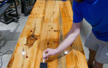 How to Make a Rustic Farmhouse Table - Epoxy Resin Glow Table