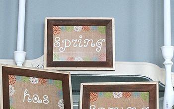 Spring Burlap Printables for Free!