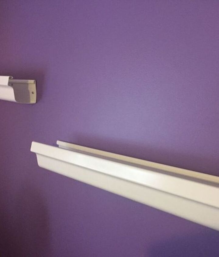 bookshelves and curtain rods