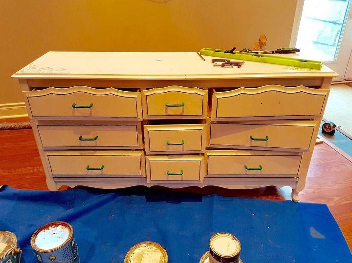 craft storage repurposed dresser